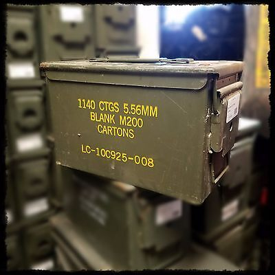 USGI Military Ammo Can M2A1 50 Cal Ammunition Box Surplus Steel Sealed