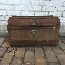 Rustic and rusty old metal steamer trunk Leichhardt Leichhardt Area Preview