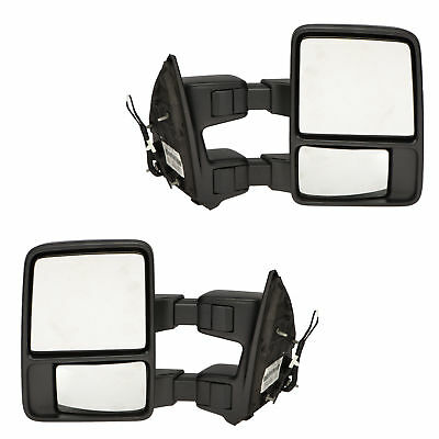 Duty New Manual Tow Mirror (OEM NEW Right & Left Rear View Manual Trailer Tow Mirror 13-16 Ford Super Duty )