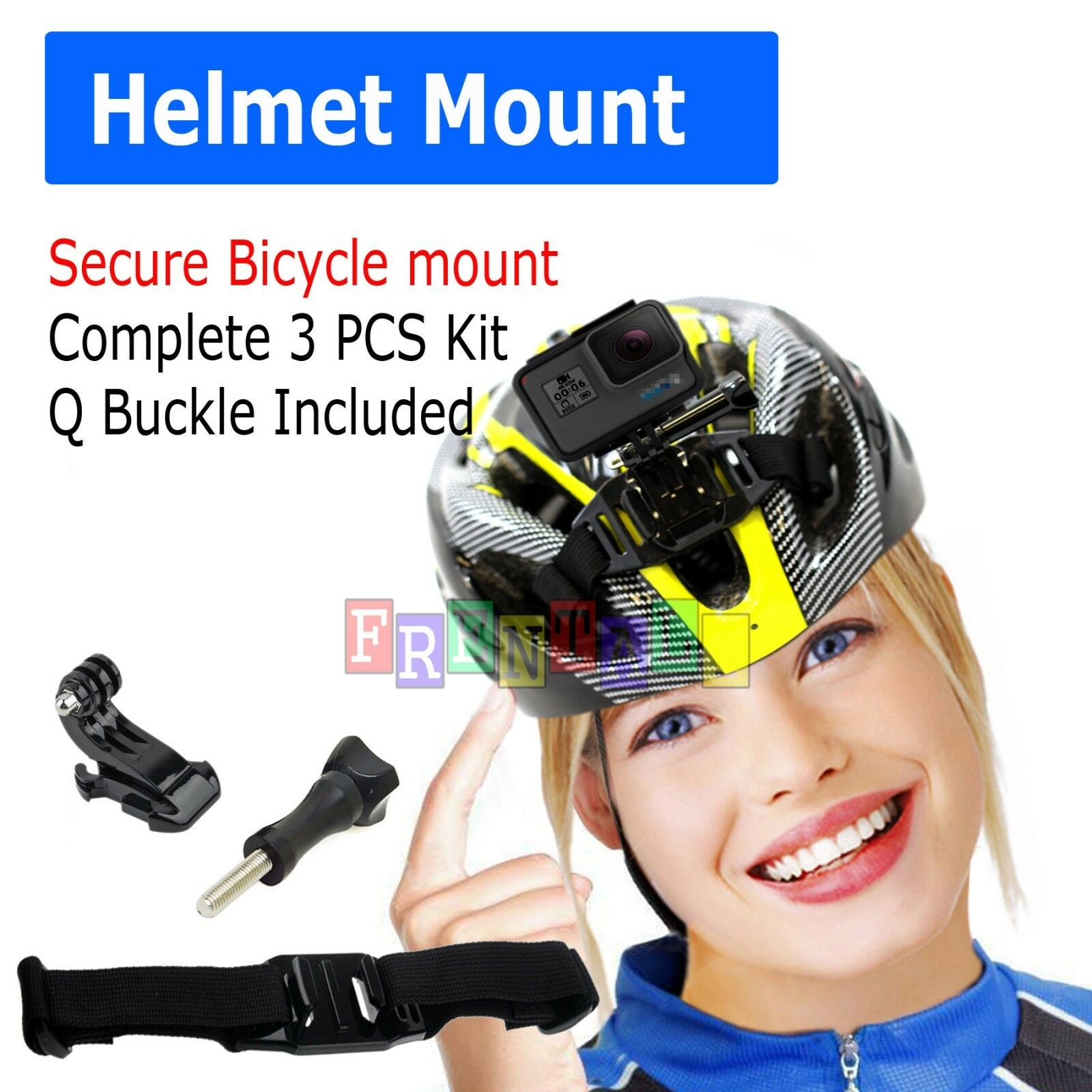 bicycle helmet front strap mount j hook