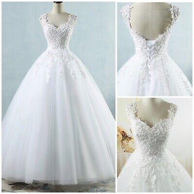 White Ivory Tulle Wedding Dress pearls. Sz 2-26W customized STANDARD PLUS SIZE