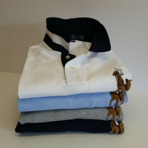 Men Polo Ralph Lauren Polo Shirt Mesh BIG PONY Size S M L XL XXL Classic Fit NWT