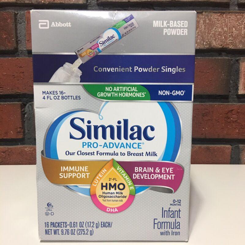 Similac Pro-Advance Non-GMO Infant Formula w/ Iron Powder 9.28oz Total 16 Packet