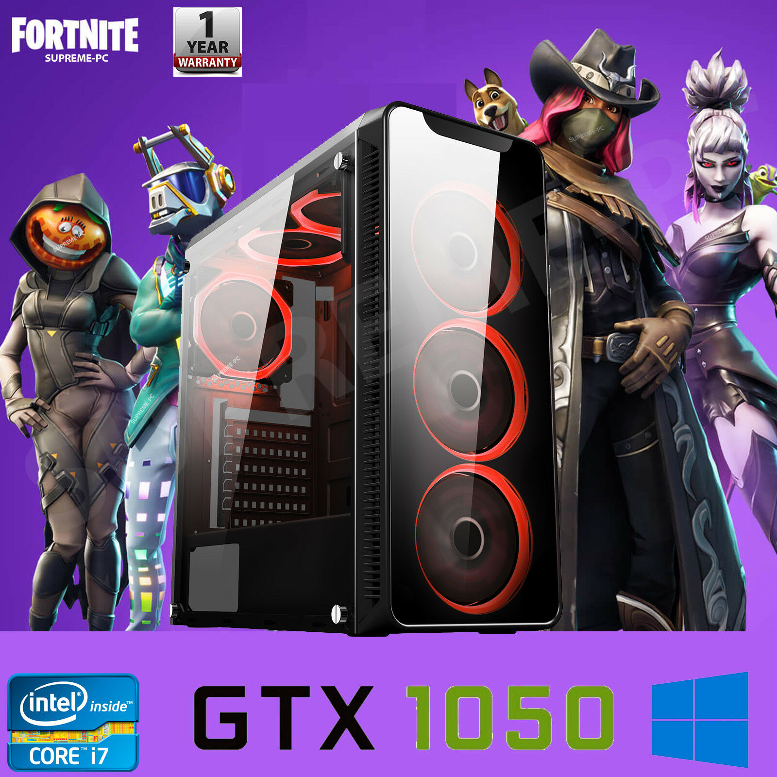 Computer Games - FAST Quad Core i7 GTX 1050 Ti Gaming PC 16GB RAM 2TB Windows 10 Desktop Computer