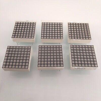 Us Stock 6pcs 1.9mm 8 X 8 Dotmatrix Dot Matrix Red Led Display Common Anode