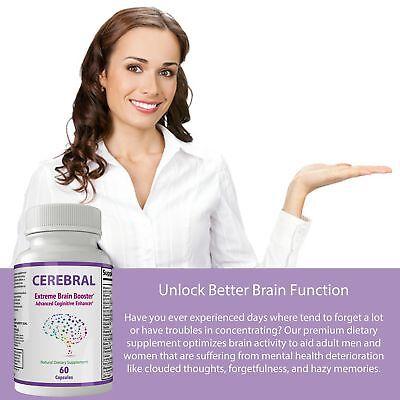 Cerebral Extreme Brain Booster Supplement | Natural Nootropics For Mental Foc... 3