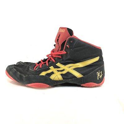 f60f0de597c139 B50 Asics Jb Elite V2.0 Mens Size US 9 Red Black Gold Wrestling Shoes J501N