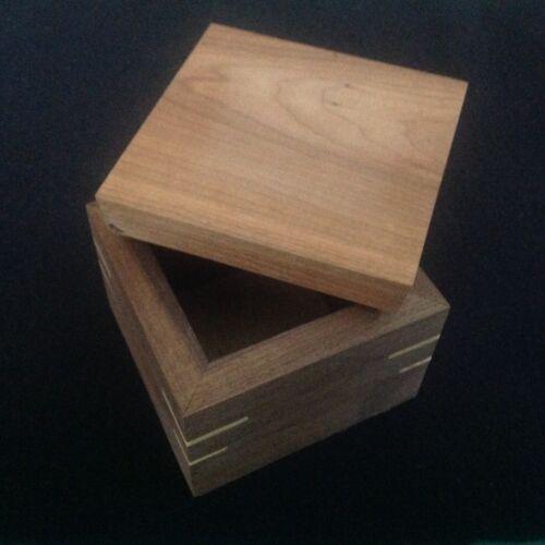 Wooden Box, Handmade from Exotic Wood, Trinket/jewelry Keepsake Storage Box