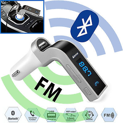 Car Fm Transmitter Bluetooth Hands Free Lcd Mp3 Player Radio Adapter Kit Charger