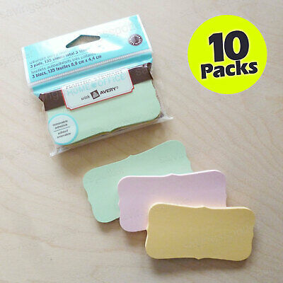 Lot 10 Packs Martha Stewart Avery Sticky Notes 3.5 X 1.7 Ultrahold Pastel 135pk