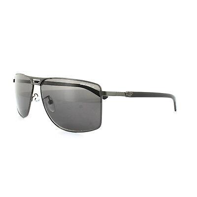 Police Sunglasses S8848 Flash 1 584P Shiny Gunmetal Grey Grey (Cheap Police Sunglasses)