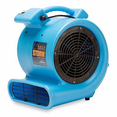 Soleaire Max Storm 12 Hp Air Mover Carpet Dryer Blower Floor Fan Blue
