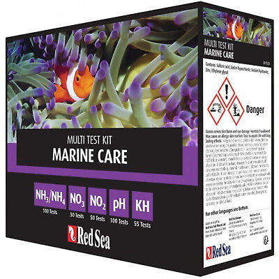 Red Sea Test Kit Marine Care Multi Ph Ammonia Kh Nitrate ...