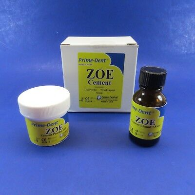 Prime Dent Dental Z.o.e Cement Zinc Oxide Eugenol 21 Grs Powder 7.5 Ml Liquid