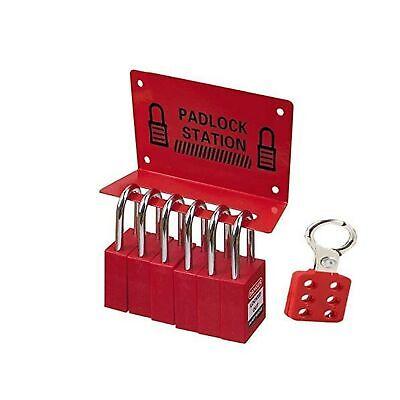 Lwo - Lockout Tagout Lock Kit With Tagout Station - 6 Loto Locks Non Conducti...