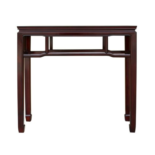 Chinese Huali Rosewood Reddish Brown Straight Apron Side Altar Table ws470