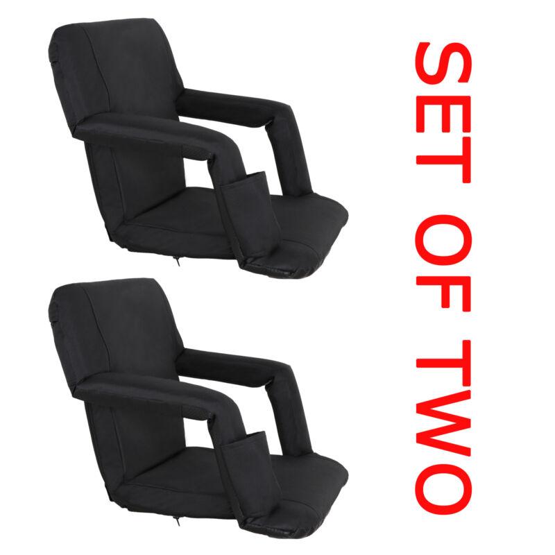 5 Reclining Positions Tiltable Stadium Seat Concert Competition Bleacher Chair