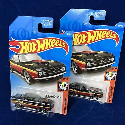 Hot Wheels '68 Copo Camaro Black Muscle Mania 6/10 New Lot Of 2