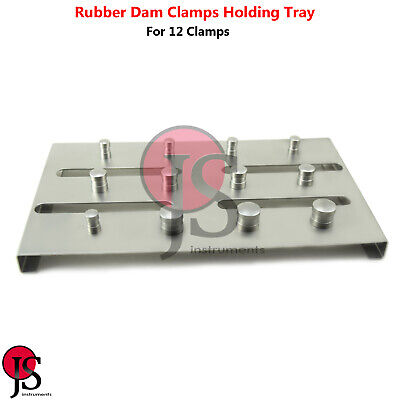 Rubber Dam Clamp Holder Tray Sterilization Stand Dental Endodontic Instruments