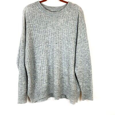 Abercrombie And Fitch Women's Super Soft Grey Sweater Sz XL Pullover Top