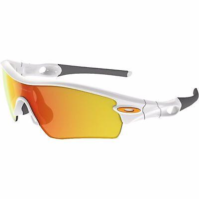NEW Oakley - Radar Path - Sunglasses, POLISHED WHITE / FIRE IRIDIUM, 09-765, used for sale  Shipping to India