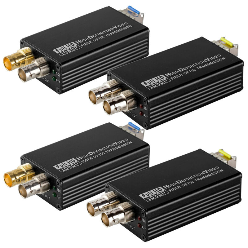 2 Pair 3G SDI to LC Fiber Optic Converter 1080P 60Hz Transmitter Receiver RS485