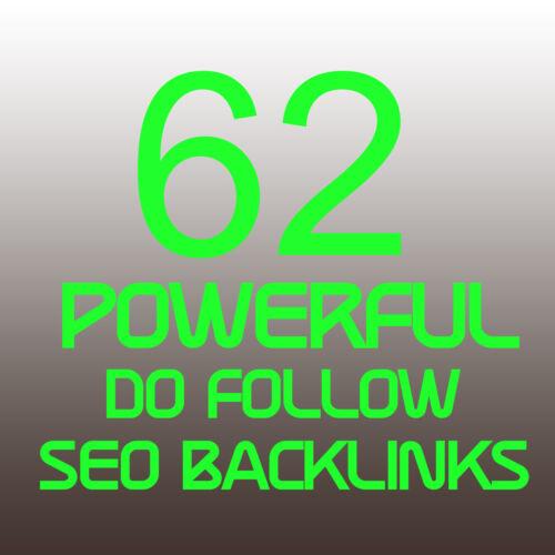 62 Powerful Dofollow Seo Backlinks Service - Powerful Backlink Seo Pr+