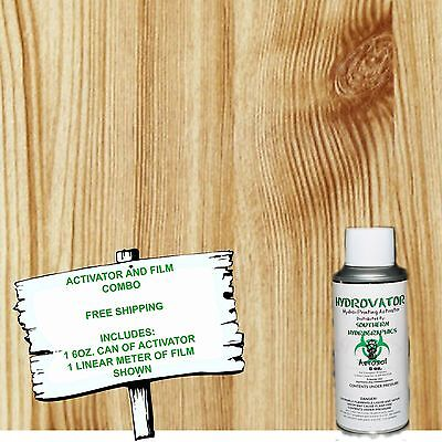 Hydro Dip Hydrographic Film Water Transfer 6oz Activator Wstraight Wood 2 Kit