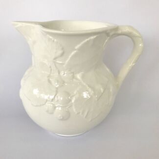 Large White Italian Ceramic Water Jug