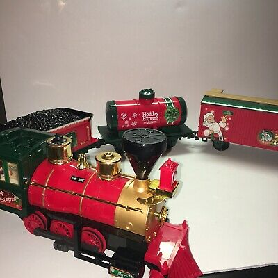 4 Piece Holiday Train Christmas Coke-style Collectible Set Connecting