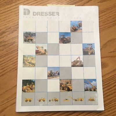 Dresser 1989 Product Guide Manual Book Crawler Tractors Pay Loader Grader Roller