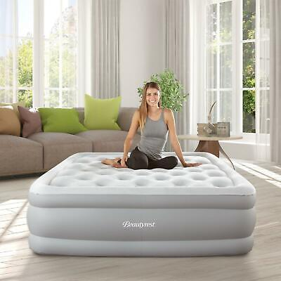 Beautyrest Sky Rise Raised Air Mattress With Hands Free Express Pump Full Size