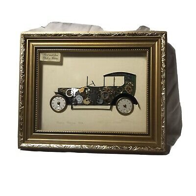 Vintage Ken Broadbent Quality Collage 1911 Rolls Royce From Clock & Watch Parts