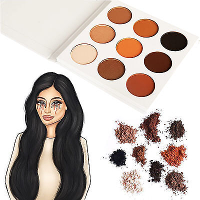 9 Colors Shimmer Matte Eyeshadow Beauty Make Up Cosmetics Bronze Palette Set Kit