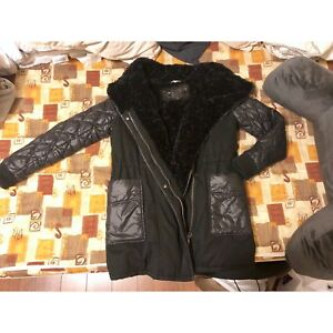 Winter Black Woman Coat