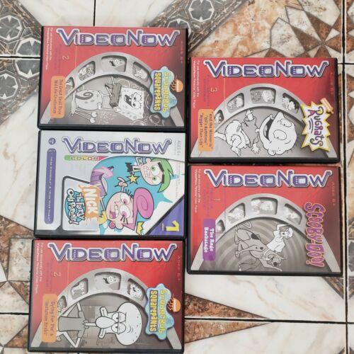 FIVE VideoNow Discs!! Scooby! SpongeBob! Rugrats!