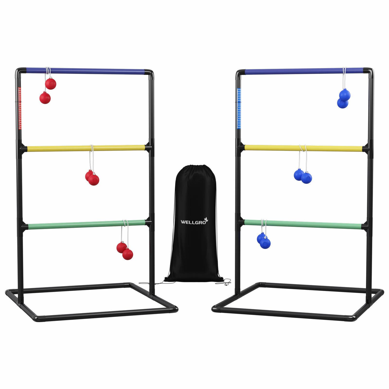 2x Leitergolf Wurfspiel Leiterspiel Geschicklichkeitsspiel Outdoor Spiel Bolas