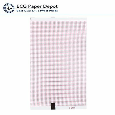 Welch Allyn Ecg Machine Recording Sheets Ekg System 40602 Red Z-fold Paper 5pack