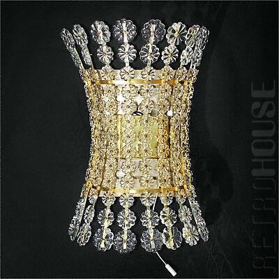 Rare Lamp Mid-Century Modern 1950s Wall Light Sconce Crystal Glass Emil Stejnar