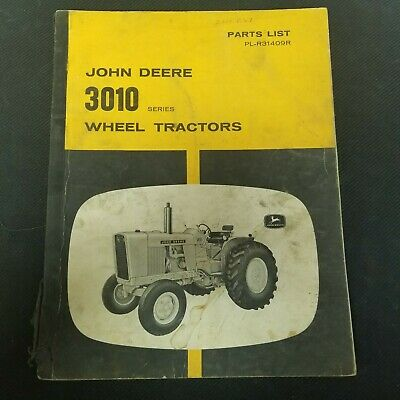 John Deere 3010 Wheel Tractors Parts List Pl-r31409r