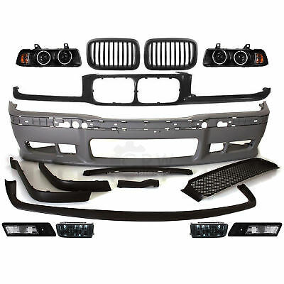 Kit Parachoques Delantero + Niebla + Faro + Parrilla Soporte BMW Serie E36 Año