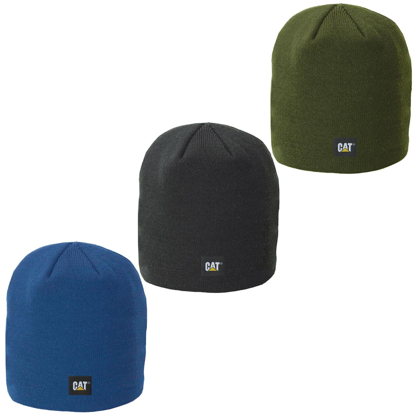 a6da63b04cd CAT Caterpillar Logo Knit Hat Winter Workwear Fashion Cap
