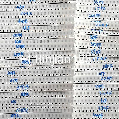 Smd 0805 50 Value Resistors 40 Value Capacitor Package Assorted Kit Set