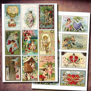 Vintage Victorian Valentines Decoupage / cherubs /sticker- decoupage decal