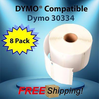 8 Rolls Dymo Labelwriter Compatible 30334 Multi-purpose 1000 Labels Per Roll