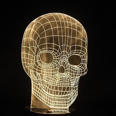 3D Art Human Skull Optical Illusion Lamp Decoration Gadgets Gifts Games - Halloween 2017 Kitchen
