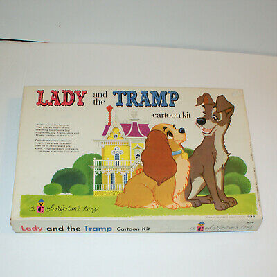 Lady and the Tramp Colorforms Cartoon Kit Vintage 1962 Walt Disney