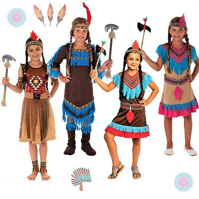 WOW Fasching Kinder Indianer Kostüm Faschingskostüm Mädchen Indianerin - Kinder China Kostüm