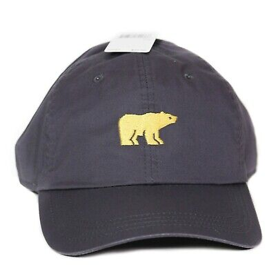 New Jack Nicklaus Golden Bear Embroidered Script Cap Hat Gray Strapback NWT