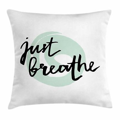 Just Breathe Throw Pillow Cases Cushion Covers by Ambesonne